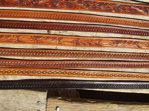 """Cordovan Brown 3//4/"""" Western Floral Carved Leather Hat Band Silver Tip Buckle"""